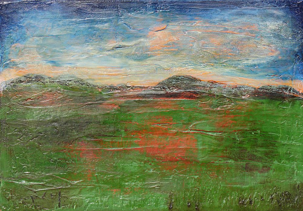 Wandern durch das Moor | 45 x 65 x 1,9 cm | 2018