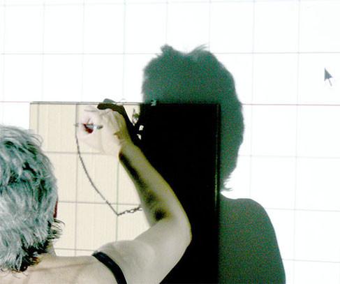 ANJA HOINKA   Vorbereitung für «blocco», Zeichnung auf Wellpappe, 2015