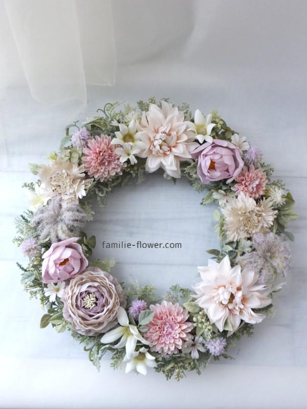 ご結婚のお祝いに造花リース