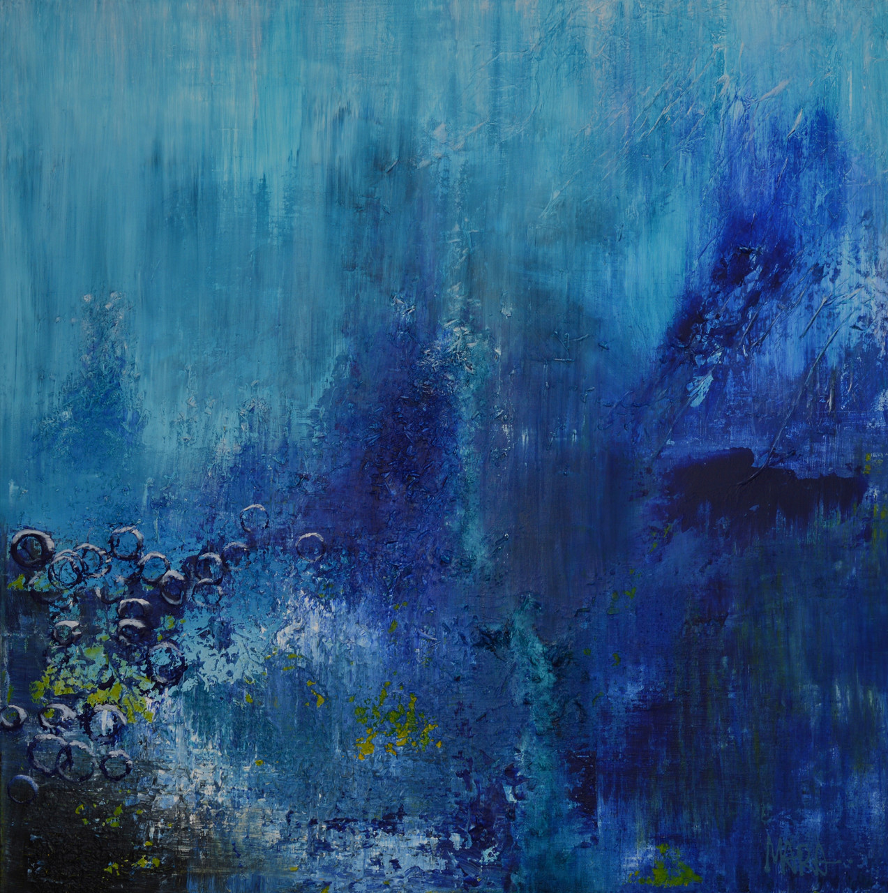 How deep is the blues ? - 100x100 cm - sold