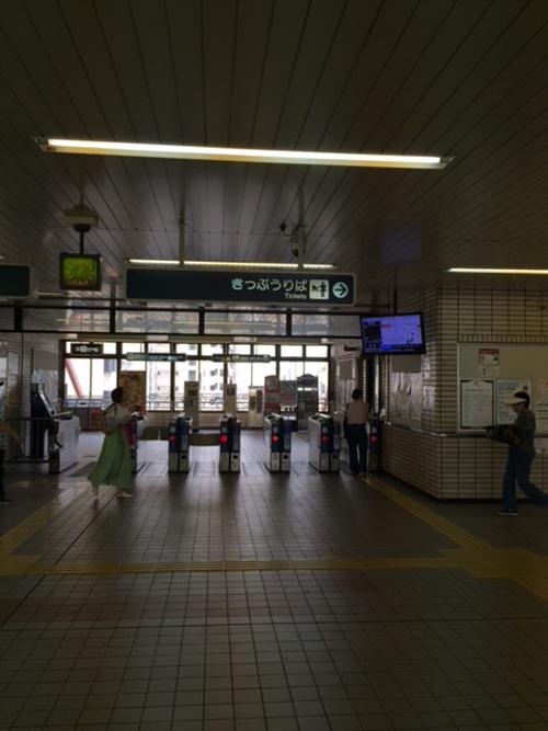 阪急今津線 逆瀬川駅改札