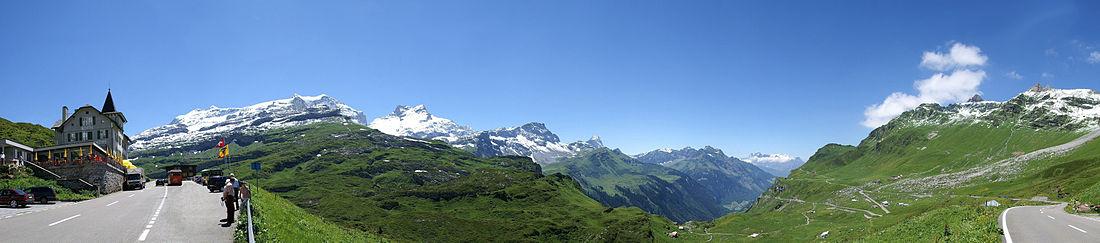 Eine wunderschöne Aussicht bei Hotel Klausen-Passhöhe.