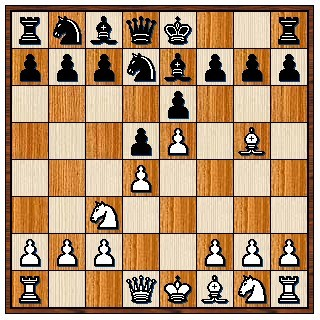 Défense Française classique 1.e4 e6 2.d4 d5 3.Cc3 Cf6 4.Fg5 Fe7 5.e5 Cfd7