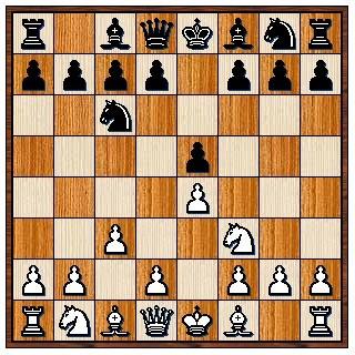 Partie Ponziani 1.e4 e5 2.Cf3 Cc6 3.c3