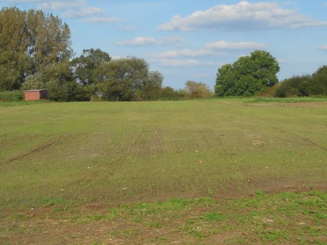 Neuer Rasen auf dem Übungsplatz angelegt.