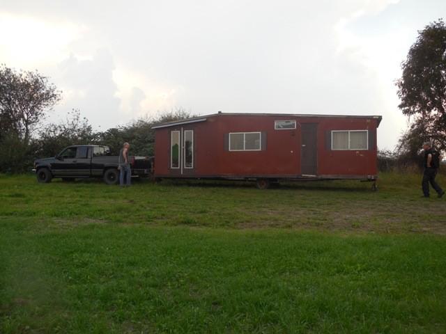 Unser 1. Mobilheim auf dem Hundeübungsplatz