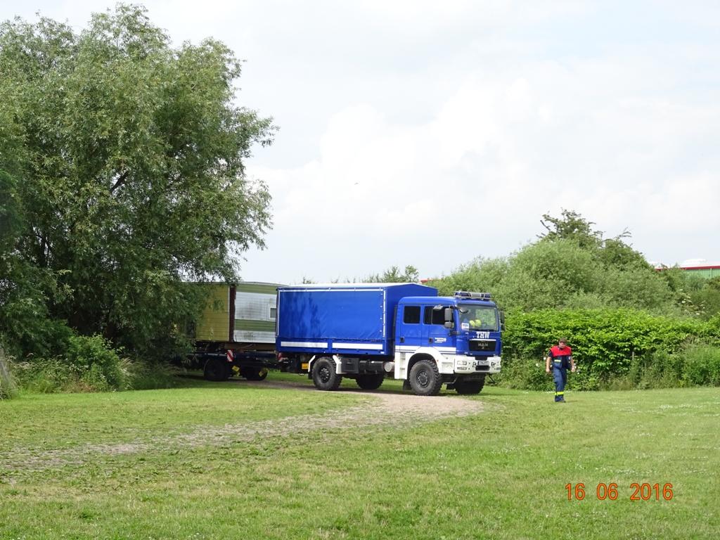 Mobilheim bei Ankunft bei Teampartner-Hund-Hoya e.V.