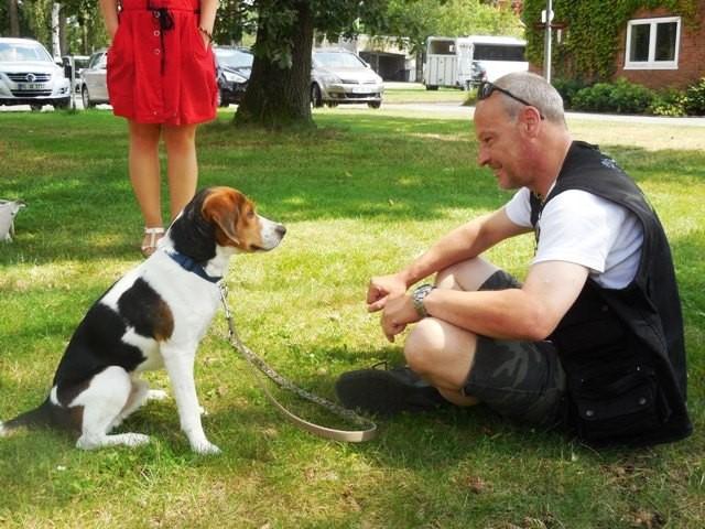 Norbert beim Sommerfest der Familienbetreuungstelle.