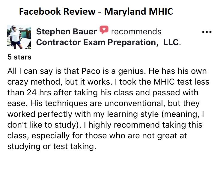 MHIC Maryland Home Improvement License
