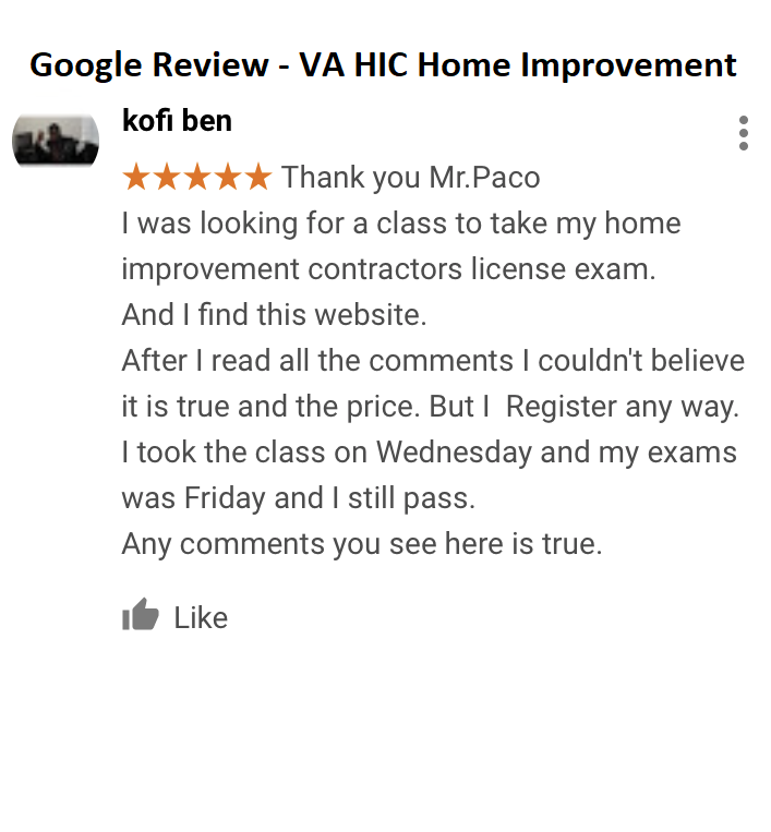 VA Home Improvement License (HIC) Exam Prep  Guaranteed