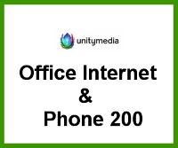 Unitymedia Business Internet für Selbständige, Freiberufler und Unternehmen Office Internet & Phone 200