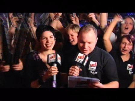 Matthias Milberg und Mr President Sängerin Judith Hildebrandt beim Pro7 Bundesvision Song Contest