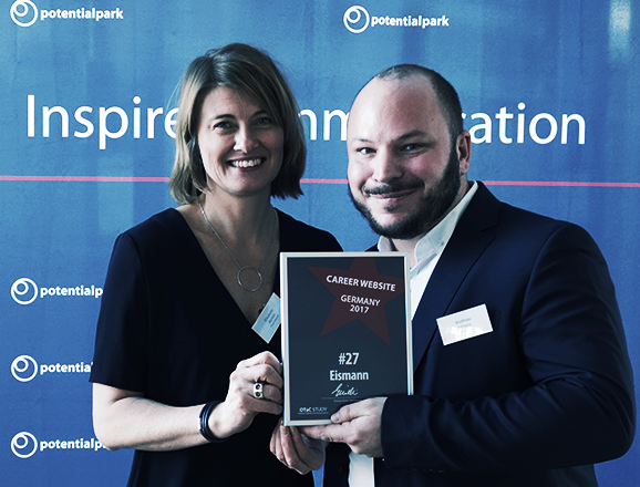 "Matthias Milberg Top 30 Preisträger des potentialpark-Preises ""Career Website 2017"""