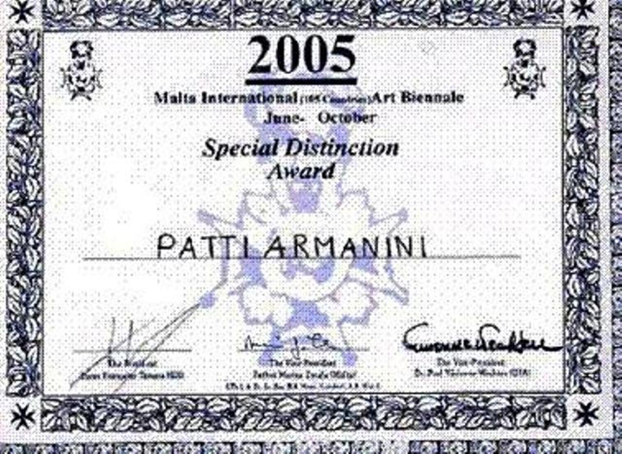 Auszeichnung (wird nur an 5 Künstler unter 105 teilnehmenden Staaten vergeben)