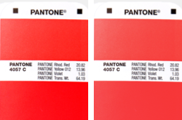 Fig. 4 Diferencias de Color en Guías Pantone