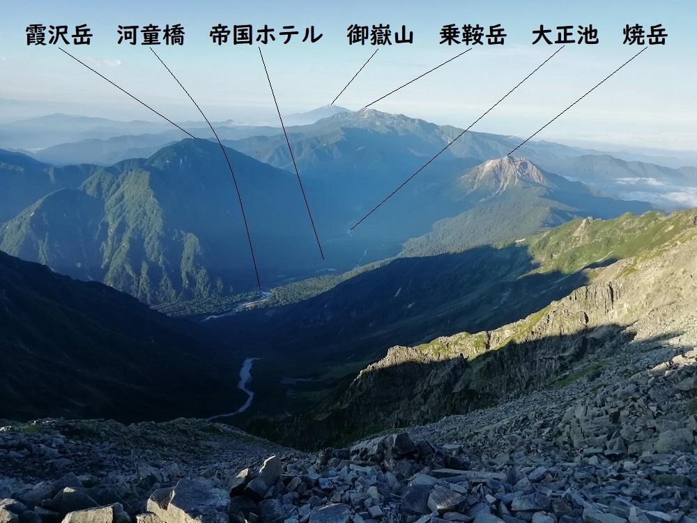 奥穂高岳から南南西方面