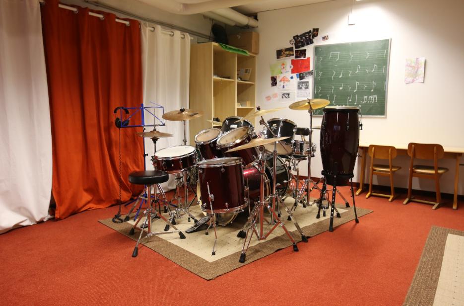 Mittelschule Allershausen Schlagzeugraum Keller
