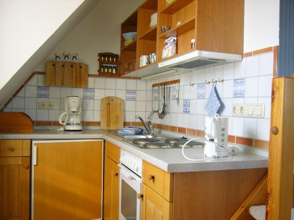Küchenecke der oberen Wohnung