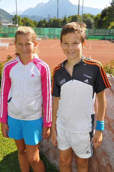 Ines und Jakob (Vereinsmeister Jugend)
