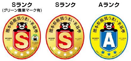 熊本県推奨 うまい米基準のランク