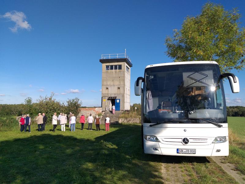 Busreise eines altmärkischen Reiseveranstalters (Kurzweg-Reisen) zum Thema Grünes Band