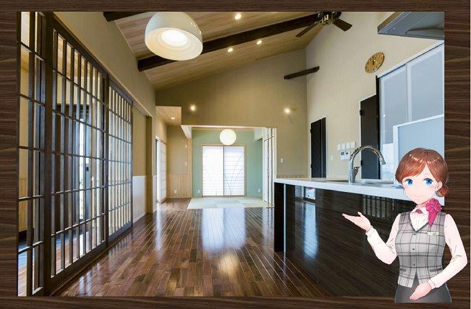 自然素材のやさしい・丈夫な家がコンセプト