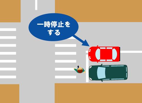 停止 一時 横断 歩道