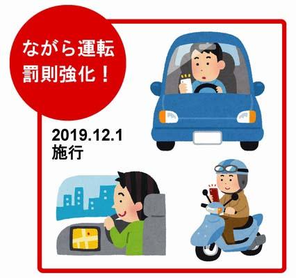 スマホ 罰則 中 運転 12月1日から スマホの「ながら運転」が罰則強化!一発で免停も
