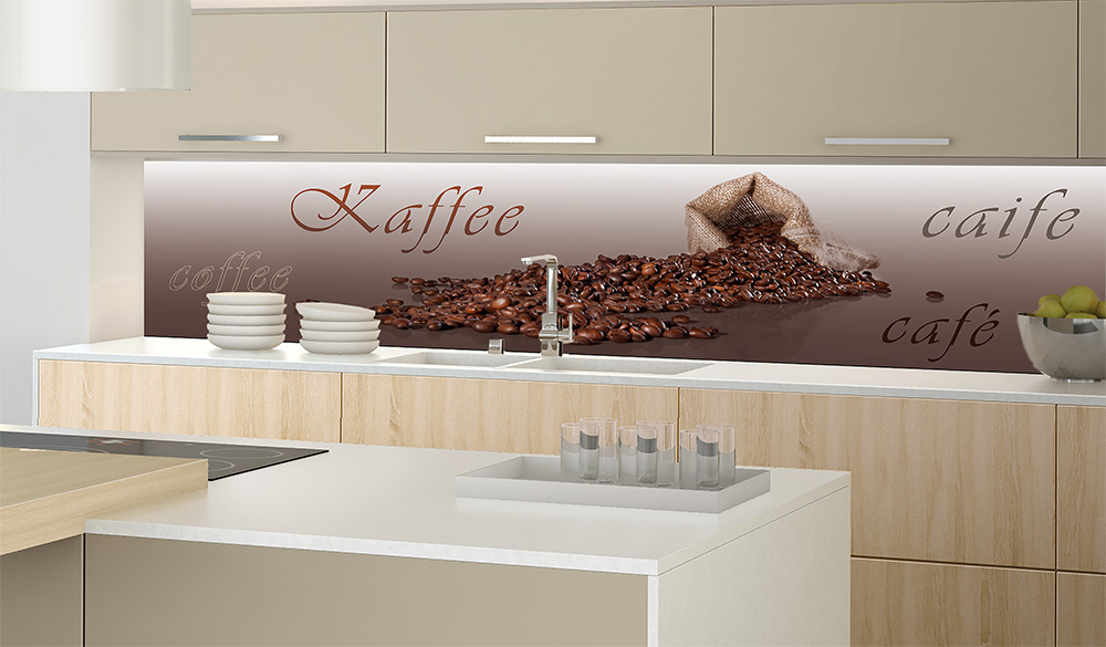 Tapete Für Küchenrückwand verkleidung mit gebürsteten aluminiumplatten