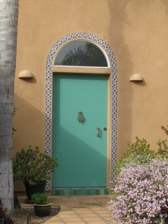 Ceramic InsulCoat Wall - Stucco - Moroccan-Style House Front Door; Vista, California
