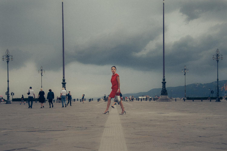 // ADOPTEE par VANESSA //40x60 cm - Ville de Trieste en Italie