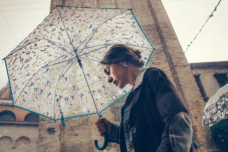 // ADOPTEE PAR MATHIEU & FRED // 40x60 cm - Poésie d'un jour de pluie à Trévise (Italie)