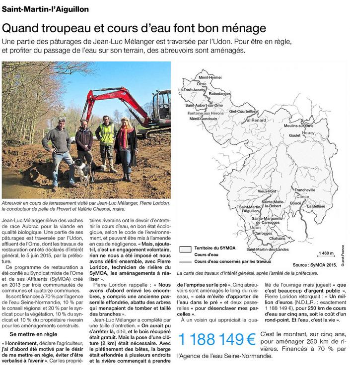 Ouest-France Argentan - 19 mars 2016