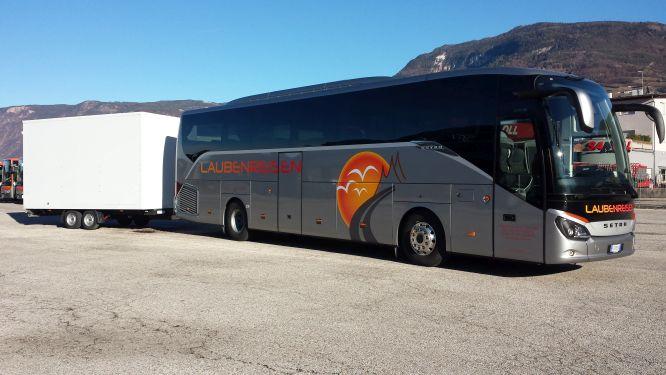 Unser Reisebus mit Fahrradanhänger