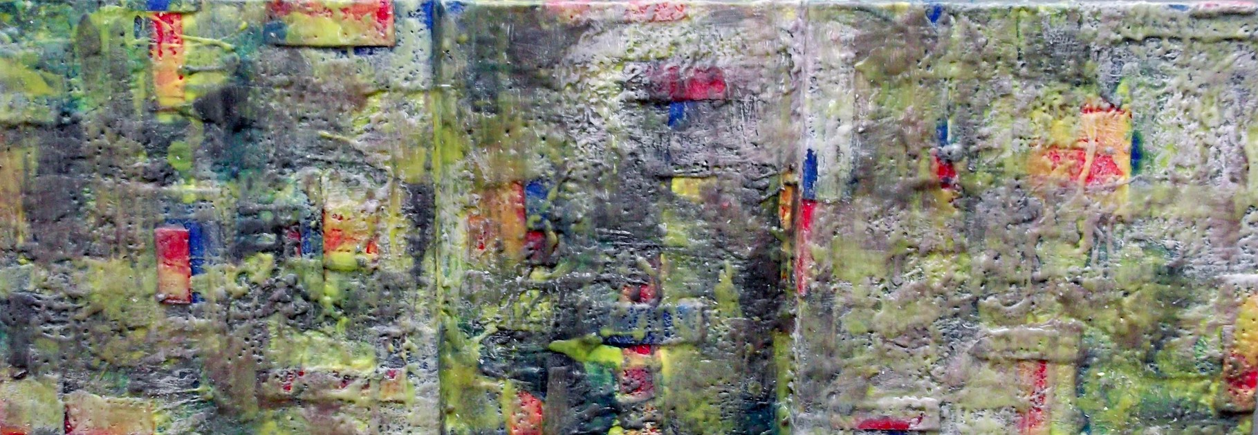 """ Bergamo #02 ""  2014 - scented wax stratification on canvas - ( front side ) cm 120 x 40 x 10"