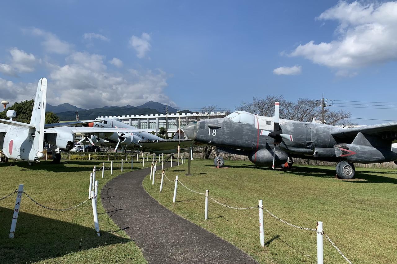旧海軍鹿屋基地は圧巻の機体展示
