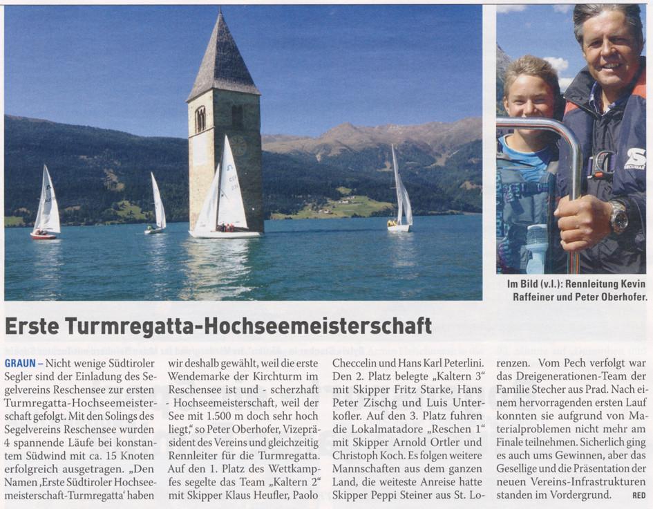 Ausgabe der Vinschger vom Donnerstag, 20.09.2012