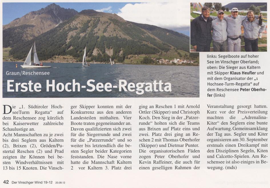 Ausgabe der Vinschger Wind vom Donnerstag, 20.09.2012