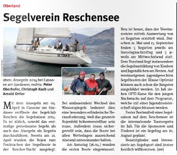 Artikel im Vinschger Wind vom 29.05.2014