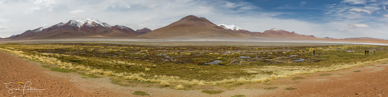 The expanse of the Bolivian high plateau