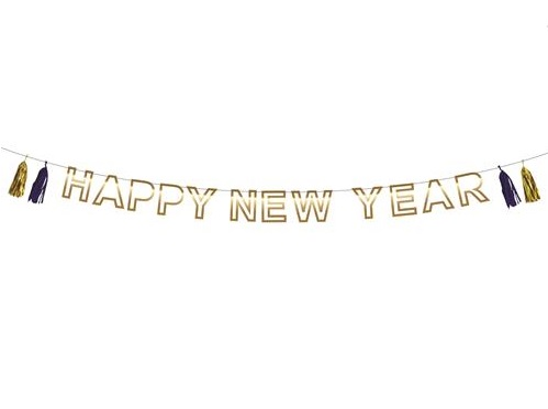 Letterslinger Happy New Year ca. 3m € 4,50