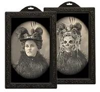 Foto holografisch Vrouw met hoed € 1,50 25x38 cm