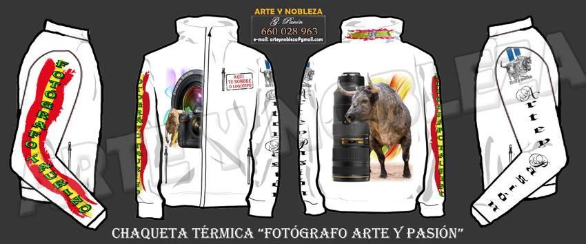 """. - Chaqueta """"Fotógrafos Arte y Pasión"""" (arteynobleza.jimdo.com)"""