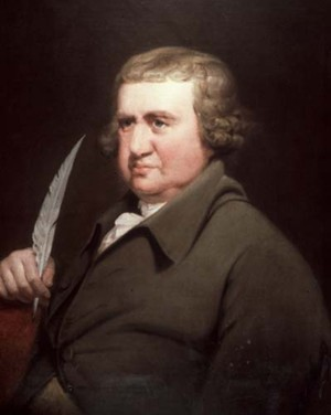 Erasmus Darwin by Joseph Wright of Derby, (1792).