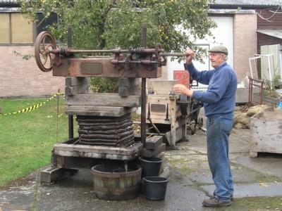 Cider making at Hartlebury Castle, October 2011.
