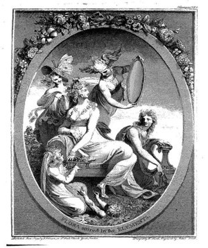 Frontispiece for 'The Botanic Garden'  by Henry Fuseli.