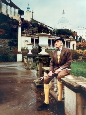 Clough Williams-Ellis at Portmeirion by Bruno de Hamil, 1973. © Portmeirion Ltd.