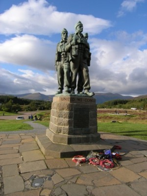 The Commando Memorial in the Scottish Highlands.