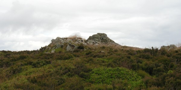 Stiperstones. A cairn south of Cranberry Rock. July 2009.