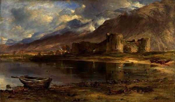 The ruins of Inverlochy Castle, painted by Horatio McCulloch in 1857.